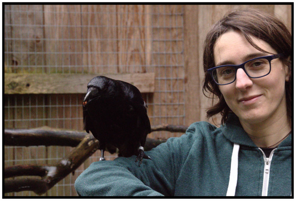 Claudia Wascher with Crow
